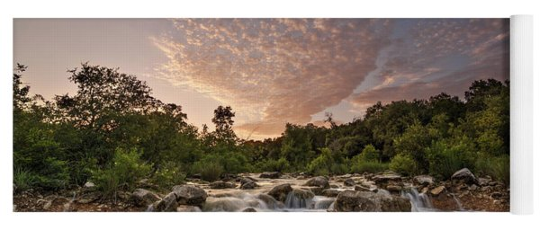 Yoga Mat featuring the photograph Barton Creek Greenbelt At Sunset by Todd Aaron