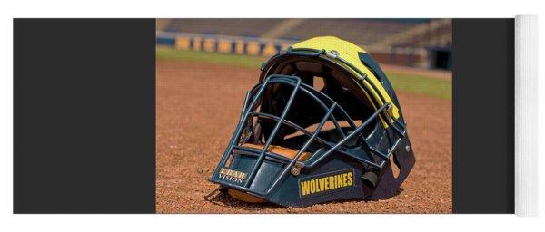 Baseball Catcher Helmet Yoga Mat
