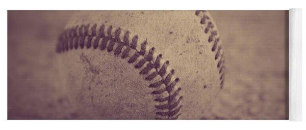 Baseball In Sepia Yoga Mat