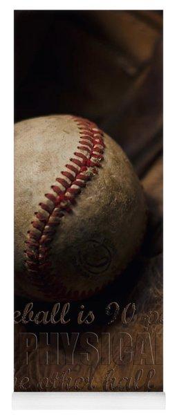 Baseball Yogi Berra Quote Yoga Mat