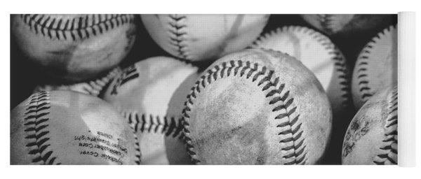 Baseballs In Black And White Yoga Mat