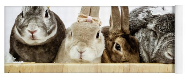 Basket Of Bunnies Yoga Mat