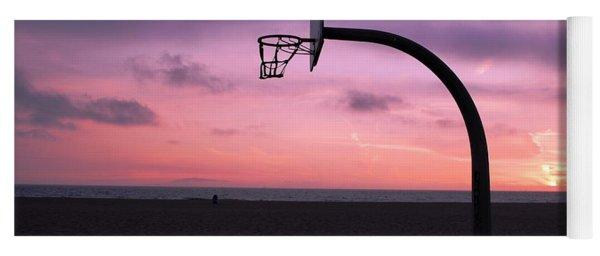 Basketball Court At Sunset Yoga Mat
