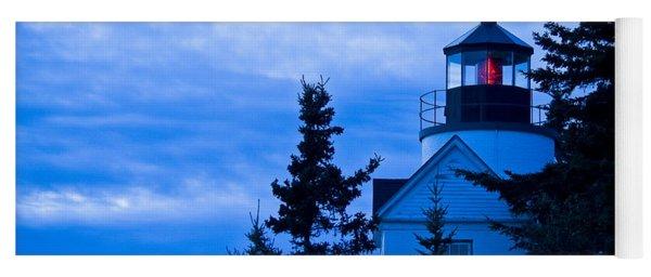 Bass Harbor Lighthouse Blue #2 Yoga Mat