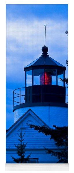 Bass Harbor Lighthouse Blue Yoga Mat