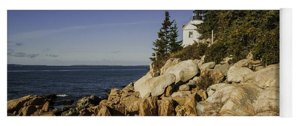 Bass Harbor Lighthouse Yoga Mat