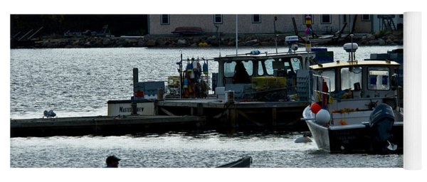 Bass Harbor Lobsterman Skif Yoga Mat