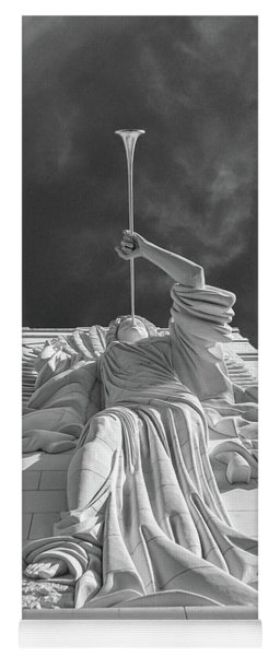 Yoga Mat featuring the photograph Bass Performance Hall Angel by Guy Whiteley