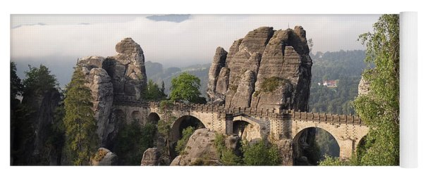 Bastei Bridge In Saxon Switzerland Yoga Mat
