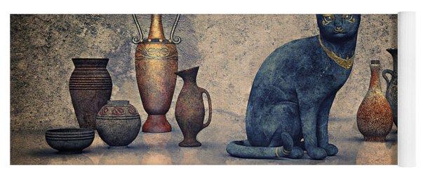 Bastet And Pottery Yoga Mat