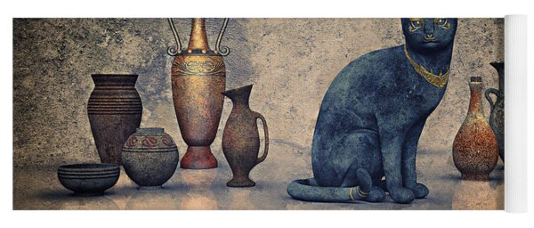 Bastet And Pottery Yoga Mat