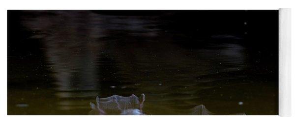 Bat Flying Over Pond Yoga Mat