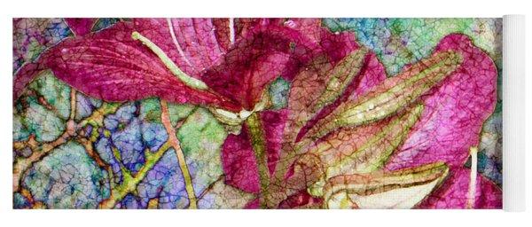 Batik Lilies Yoga Mat