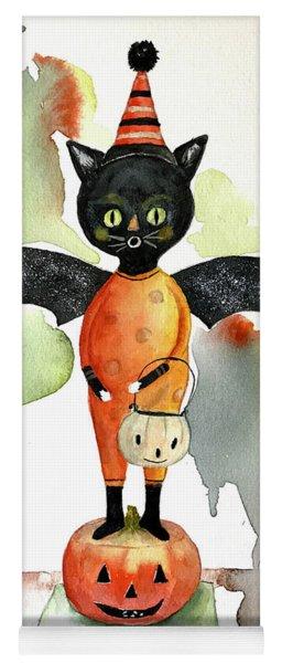 Batty Vintage Cat  Yoga Mat