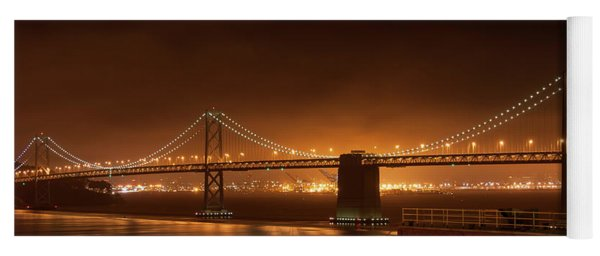 Bay Bridge At Night Yoga Mat