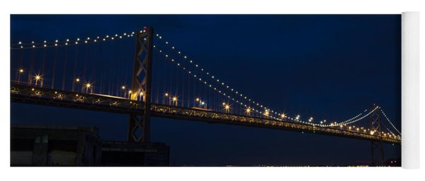 Bay Bridge At Night Yoga Mat
