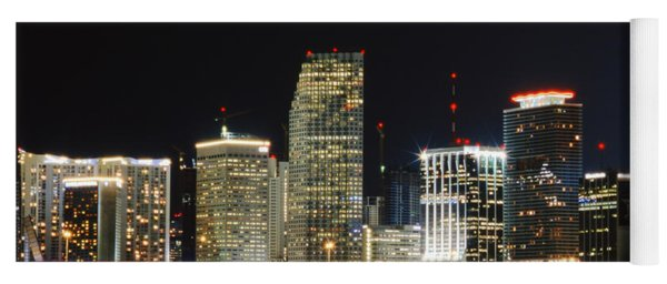 Bay Front Miami Skyline Yoga Mat