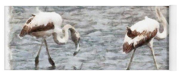 Be A Flamingo Watercolor Yoga Mat