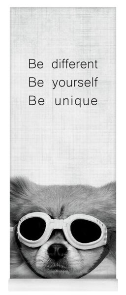 Be Different Be Yoursef Be Unique Yoga Mat