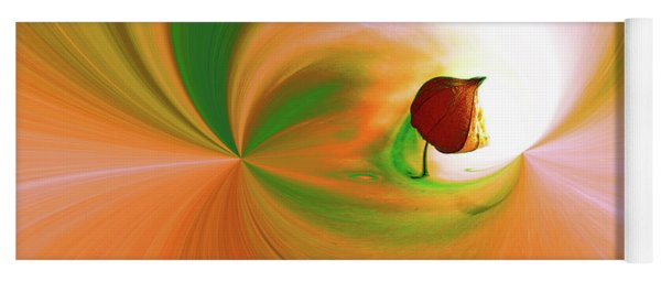 Be Happy, Green-orange With Physalis Yoga Mat