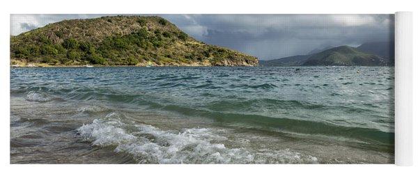 Beach At St. Kitts Yoga Mat