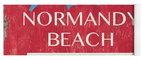 Beach Badge Normandy Beach Yoga Mat