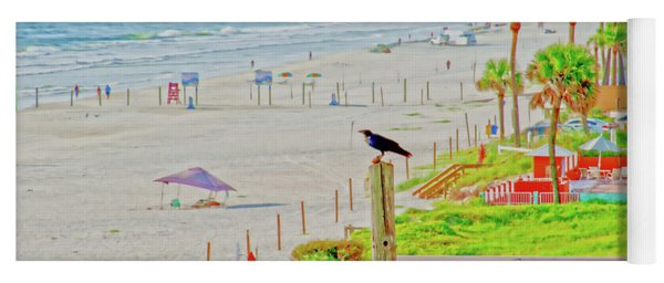 Beach Bird On A Pole Yoga Mat
