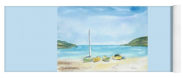 Beach Boats Yoga Mat