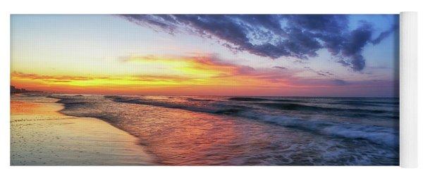 Beach Cove Sunrise Yoga Mat