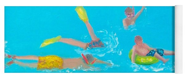 Beach Decor 'holiday Splash' By Jan Matson Yoga Mat