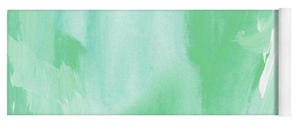 Beach Glass Blues Abstract- Art By Linda Woods Yoga Mat
