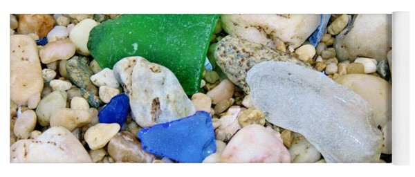 Beach Glass Yoga Mat