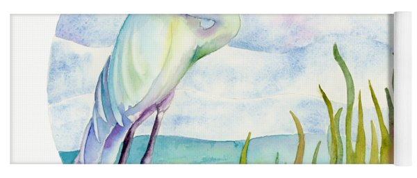 Beach Heron Yoga Mat