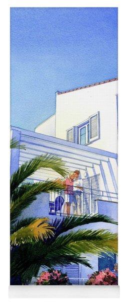 Beach House At Figueres Yoga Mat