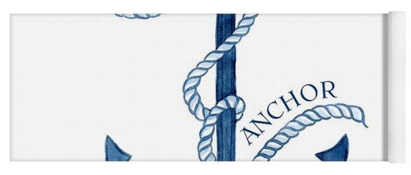 Beach House Nautical Ship Christ Is My Anchor Yoga Mat
