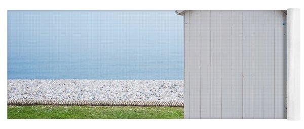 Beach Hut By The Sea Yoga Mat