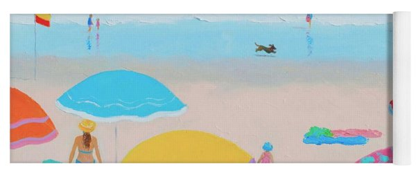 Beach Painting - Ah Summer Days Yoga Mat