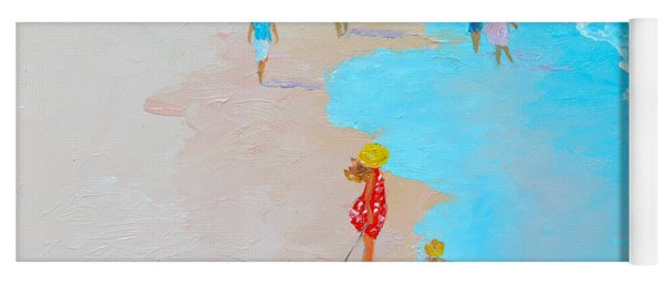Beach Painting - Beach Day - By Jan Matson Yoga Mat