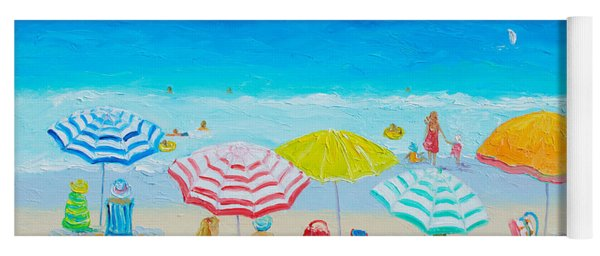 Beach Painting - Catching The Breeze Yoga Mat