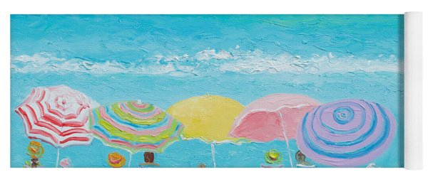 Beach Painting - Color Of Summer Yoga Mat