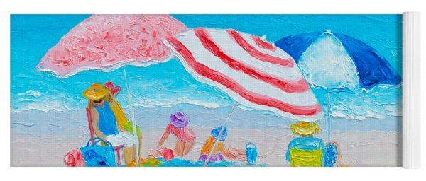 Beach Painting - Summer Beach Vacation Yoga Mat