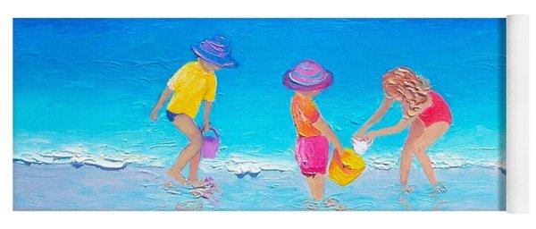 Beach Painting - Water Play  Yoga Mat