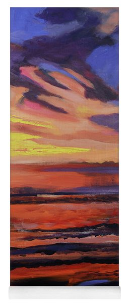 Beach Sunrise Triptych Panel 2 Yoga Mat