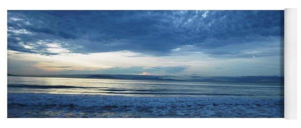 Beach Sunset - Blue Clouds Yoga Mat