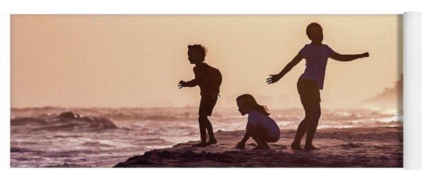 Beach Sunset Dance Yoga Mat