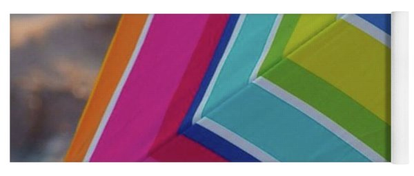 Beach Umbrella.  Yoga Mat