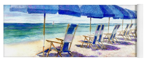 Beach Umbrellas Yoga Mat