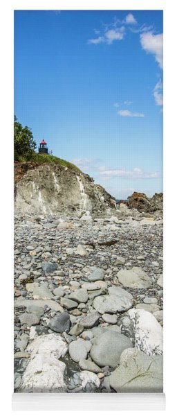 Beach View Of West Quoddy Head Yoga Mat
