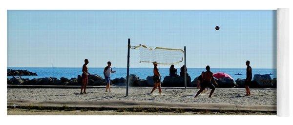 Beach Volleyball Marseille Yoga Mat