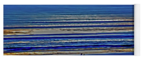 Beach Walking At Sunrise Yoga Mat